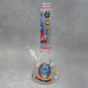 """14"""" Garblootans Beaker Style Glass Water Pipe w/Ice Catch & Diffused Downstem"""