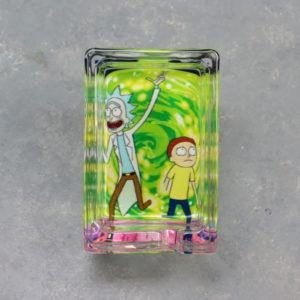 "3.25"" x 2.15"" Rick & Morty Rectangle Glass Ashtrays"