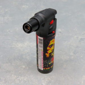 5″ Clickit Refillable Single Adjustable Torch Lighters w/Bob Marley Designs & Display