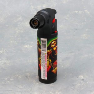 4.5″ Clickit Refillable Single Adjustable Torch Lighters w/Skull Designs & Display
