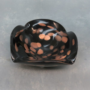 "6"" Square-Fold Dichro Glass Ashtray"