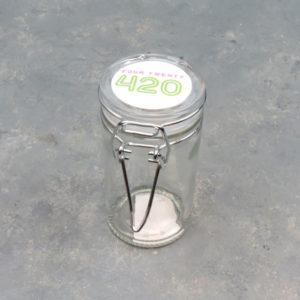"""3.5"""" 420 Storage Latch Glass Jars"""