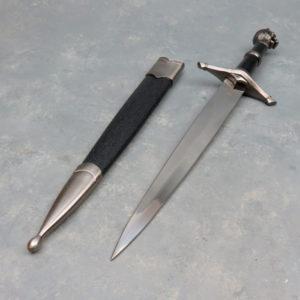 "8"" Snake Eye Lion Dagger w/Scabbard"