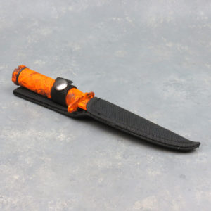 "4"" Sake Eye Camo Survival Knife w/Compass, Survival Kit & Sheath"