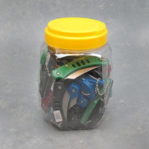"2"" Folding Keychain Knives (Jar of 36)"